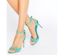 Carine 2-teilige Sandalen mit Absatz Grün