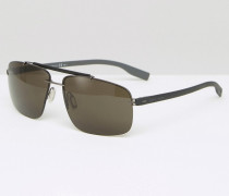 Hugo Eckige Sonnenbrille in Schwarz Schwarz
