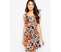 Sommerkleid mit Rosen-Print Mehrfarbig