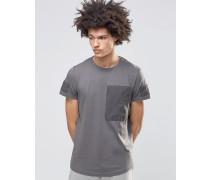 Zane Vorgewaschenes T-Shirt Grau