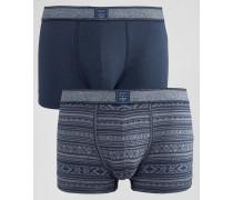 2er-Pack Unterhosen Marineblau