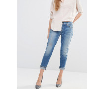 Schmale Boyfriend-Jeans Blau