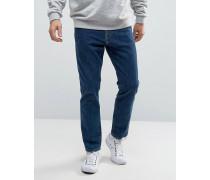Elegante, eng geschnittene Jeans in verwaschenem Blau Blau