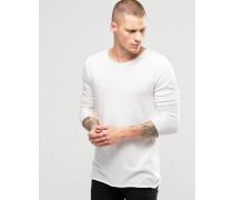 Leichter Pullover mit breitem Kragen Weiß