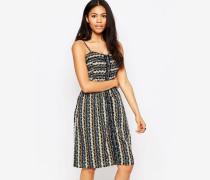 Sommerkleid mit unterschiedlichen Prints Mehrfarbig