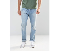 Levi's Line 8 Schmale 522-Jeans in Karottenform in kornblumenblauer heller Acid-Waschung Blau