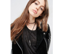 Mehrreihige Lariat-Halskette Silber