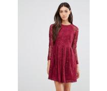 Supreme-Kleid aus Spitze Rot
