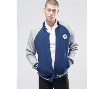 Chuck 10001111-A02 Blaue Jersey-Bomberjacke mit Emblem Blau