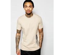 T-Shirt mit Rücken-Print Beige