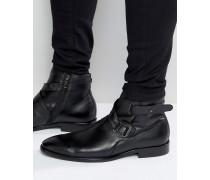 Farlow Stiefel mit Lederriemen Schwarz