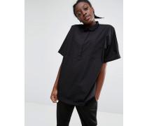 Hemd mit Taschendetail Schwarz