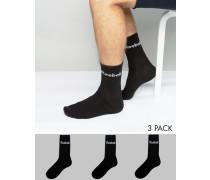 AB5280 Socken im 3er-Set in Schwarz Schwarz