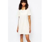 T-Shirt-Kleid Weiß
