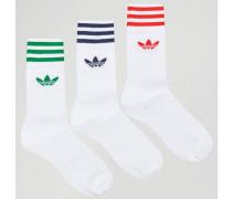 Socken im 3er-Set in Weiß AY8707 Weiß