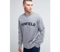 Brookport Sweatshirt mit Rundhalsausschnitt und College-Logo Grau