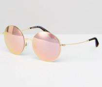 Kendall II Sonnenbrille mit runden Gläsern Gold