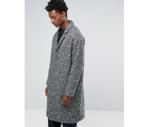 Texturierter Mantel in Schwarz und Weiß Grau