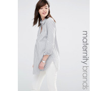 Mamalicious Gestreiftes Hemd Weiß