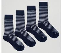4er Pack Socken Marineblau