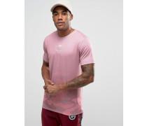 T-Shirt mit ausgeblichenem Tarnmuster Rosa