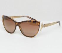 Katzenaugen-Sonnenbrille Braun