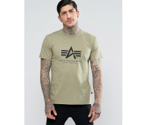 T-Shirt mit Logo in regulärer Passform in Olive Grün