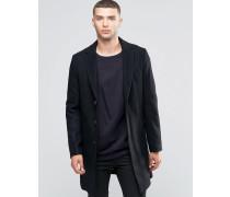 Klassischer Mantel aus Wollmischung Schwarz