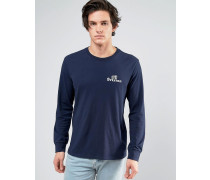 Tanka Langärmliges T-Shirt Marineblau