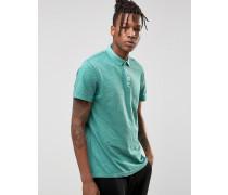 Überfärbtes Polohemd aus Jersey in schmaler Passform Grün