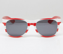 Spicoli Sonnenbrille mit Flaggendesign, VLC0JFQ Rot