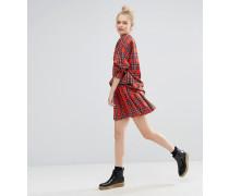 Minifaltenrock mit Schottenkaros Rot