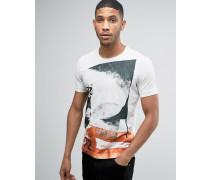 T-Shirt mit Grafikprint Weiß