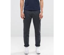 Schmal geschnittene, beschichtete Jeans in Grau Grau