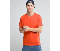 T-Shirt mit kleinem Logo Orange
