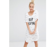 Keep Sleeping Nachthemd Weiß