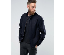Smarte Harringtonjacke aus Wolle Marineblau