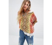 Beacon Kurzärmliger, bedruckter Pullover Mehrfarbig