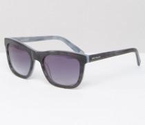 Hochwertige, eckige Retro-Sonnenbrille aus Acetat Grau