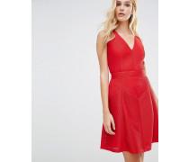 Topaz Jerseykleid mit Struktur und Fit & Flare Rot