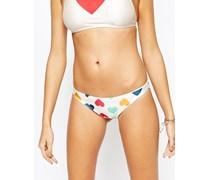 Vintage Hearts Skimpy Bikinihöschen Mehrfarbig