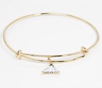 Armband mit Pyramidensteinanhänger Gold