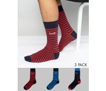 3er-Pack Socken Blau