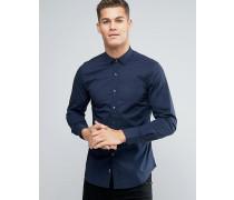 DKNY Schmal geschnittenes Hemd mit spitzem Kragen Marineblau