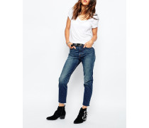 Levi's Jeans mit geradem Bein und Fransensaum Blau