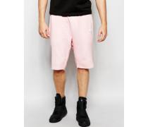 Jersey-Shorts in Ölwaschung Rosa
