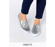 DULCIE Breite Sneaker Silber