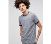 T-Shirt mit Schriftlogo Marineblau