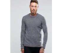 Gering 2-farbiger Pullover Marineblau