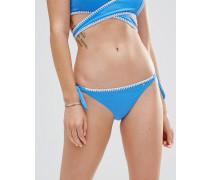 Bikinihose mit seitlicher Schnürung Blau